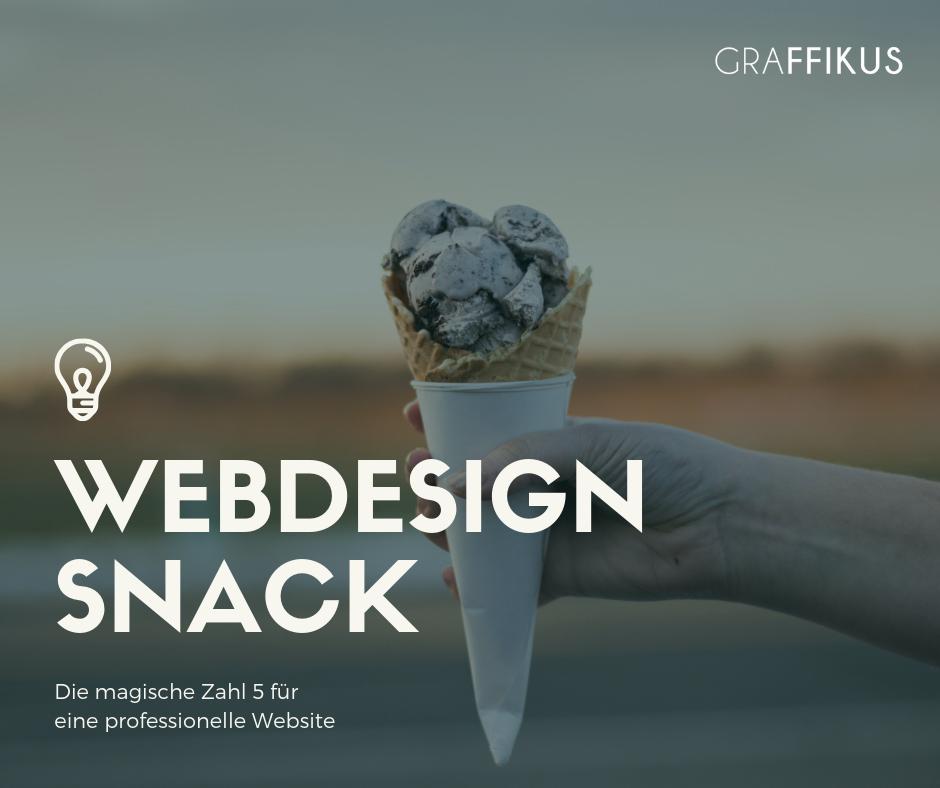 magische Zahl 5 Webdesign