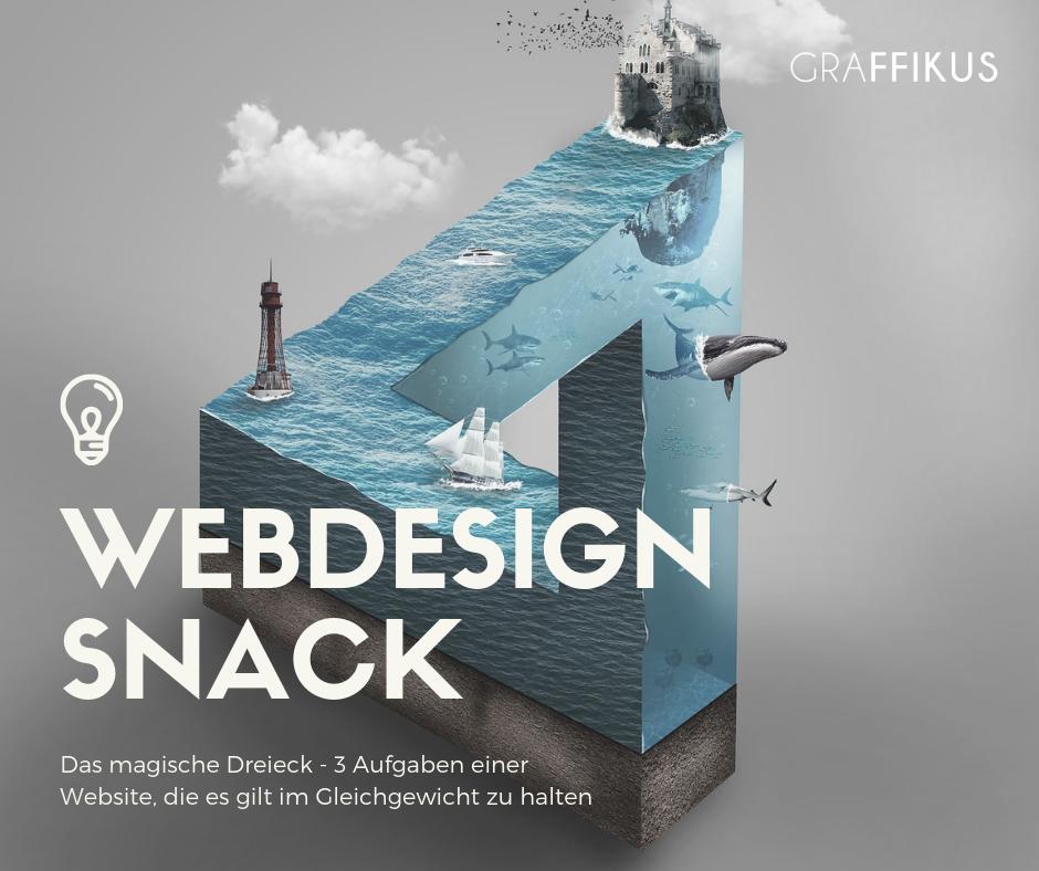 Webdesign Snack - Das magische Dreieck deiner Website