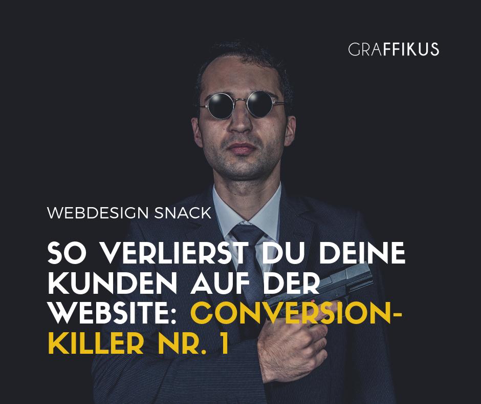 kunden verlieren auf website