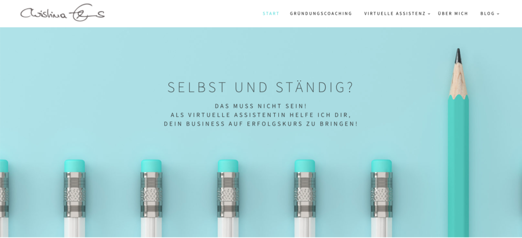 Christina Ehms, Coach für Virtuelle Assistenz, Header